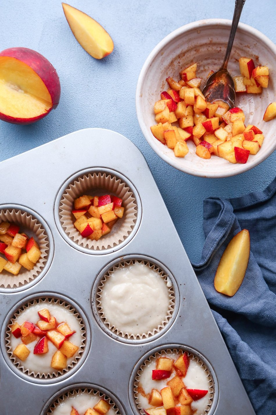 Peach Cobbler Muffins | Vegan with Gluten-Free Alternative | Wife Mama Foodie
