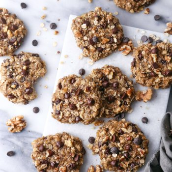 Chunky Monkey Breakfast Cookies | Vegan friendly and free of gluten, dairy, eggs, and refined sugar.