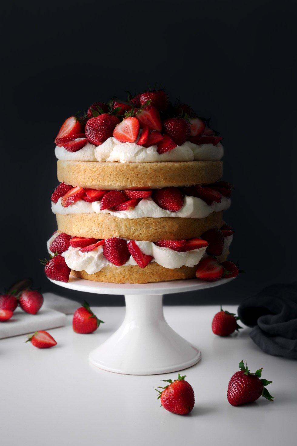 Strawberry Shortcake Cake | Vegan Friendly with a Gluten-Free Option
