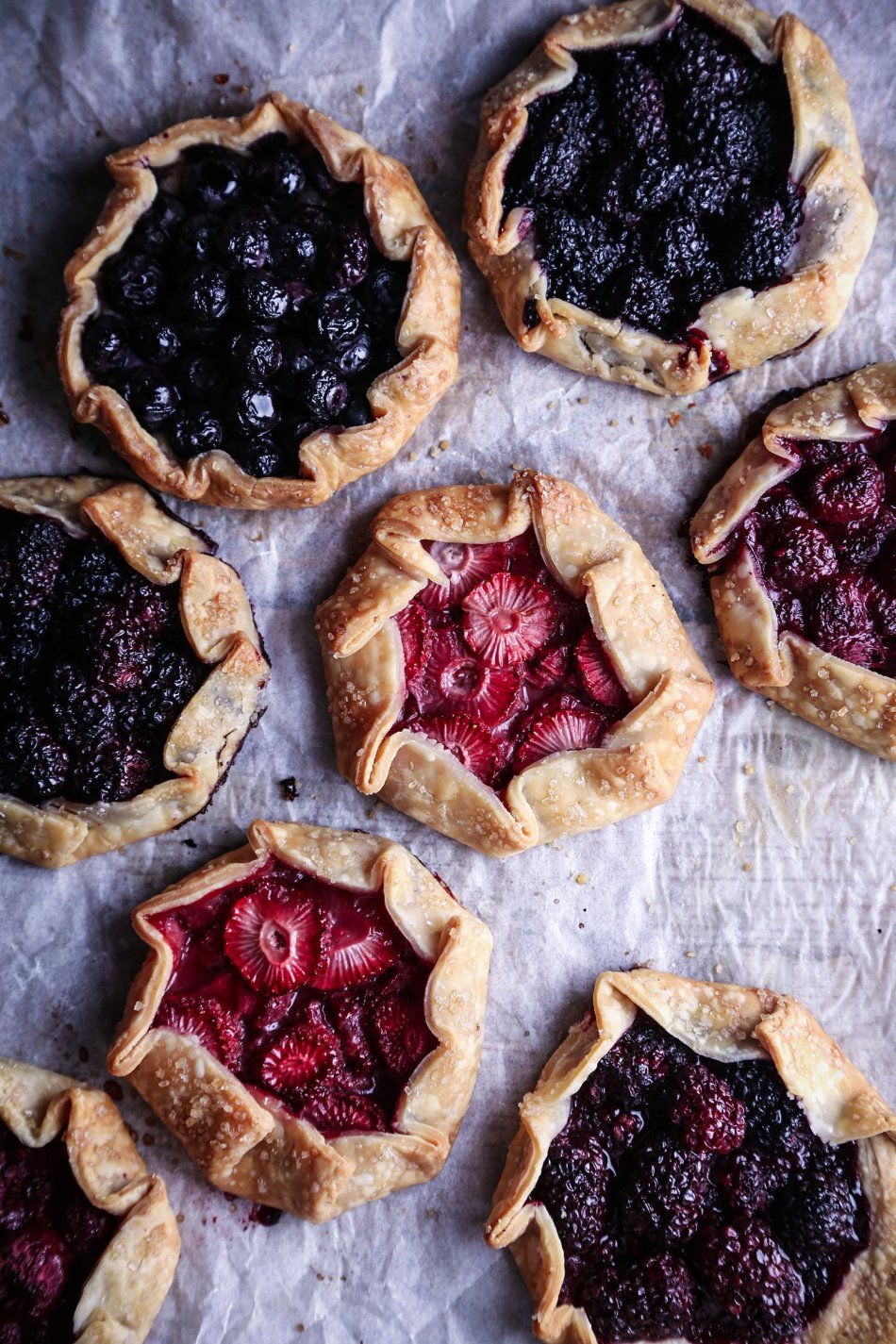 Mini Berry Galettes | Vegan friendly with gluten and refined sugar free options.
