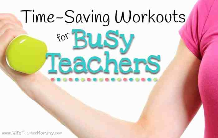 Time Saving Workouts for Teachers Header image