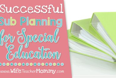 Successful Sub Planning for Special Education