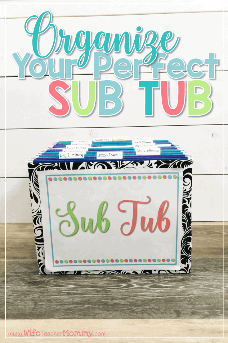 Do you have a sub tub? Having an organized sub tub can help make taking days off so much easier! Check out these tips to get your substitute plans put together in a sub tub. Your sub plans will be ready to go! Perfect for emergency sub plans.