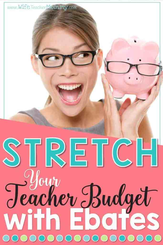 Looking to stretch your teacher budget? Ebates can help you save money online AND with in store purchases!