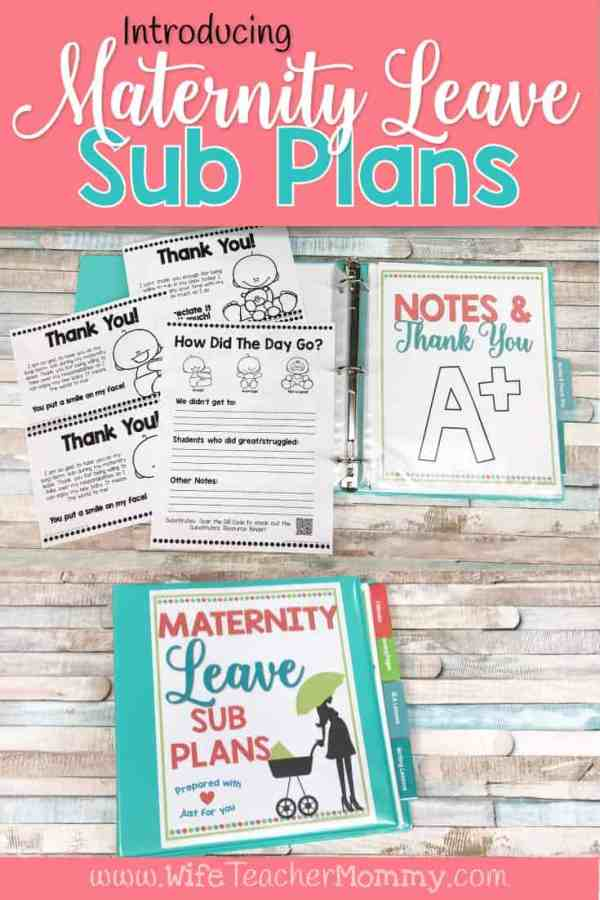 Introducing Maternity Leave Sub Plans