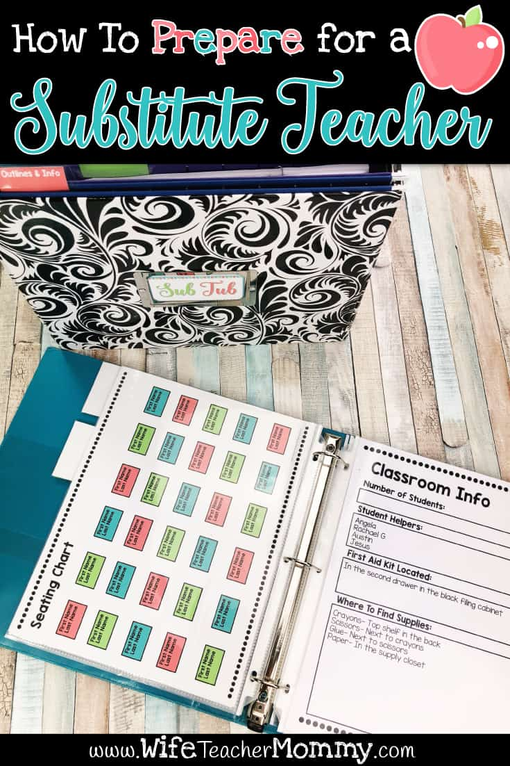 How to prepare for a substitute teacher blog post