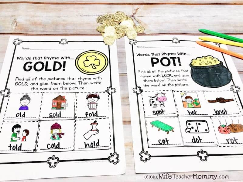 Kindergarten St. Patrick's Day sub plan activities. Great teaching ideas for St. Patrick's Day!