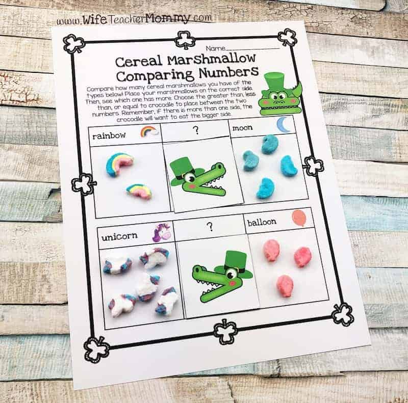 Lucky charm math activities for 1st grade and 2nd grade! This is such a fun St. Patrick's Day teaching idea.