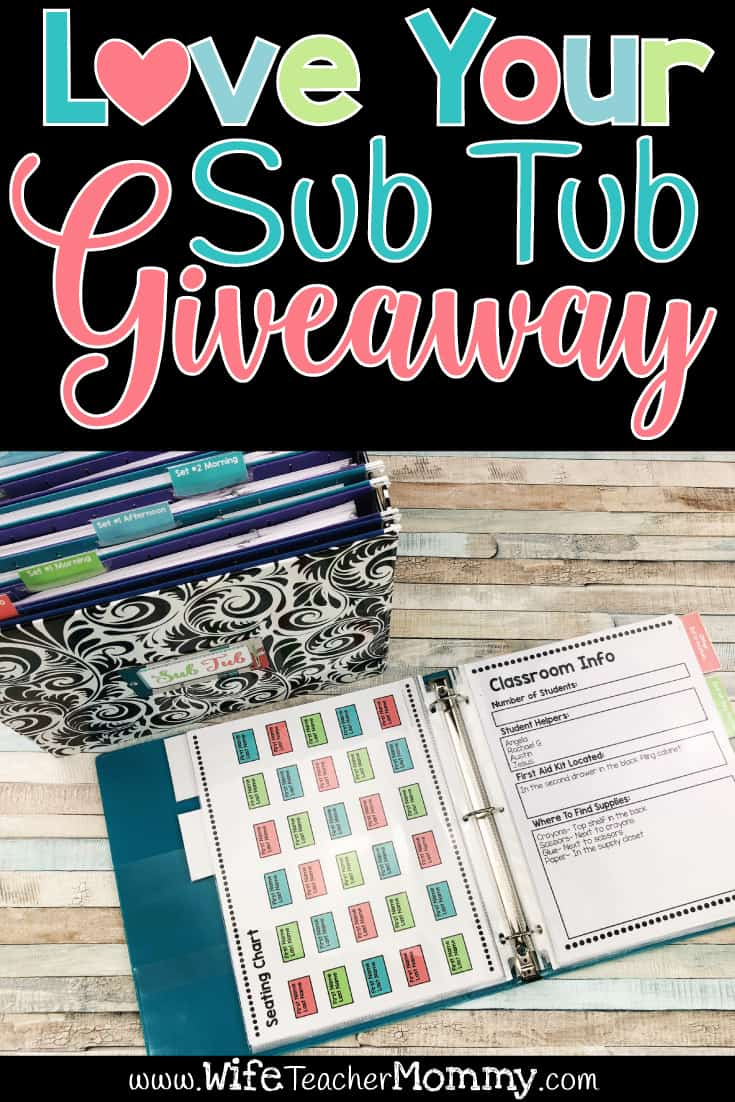 Love Your Sub Tub GIVEAWAY! - Wife Teacher Mommy