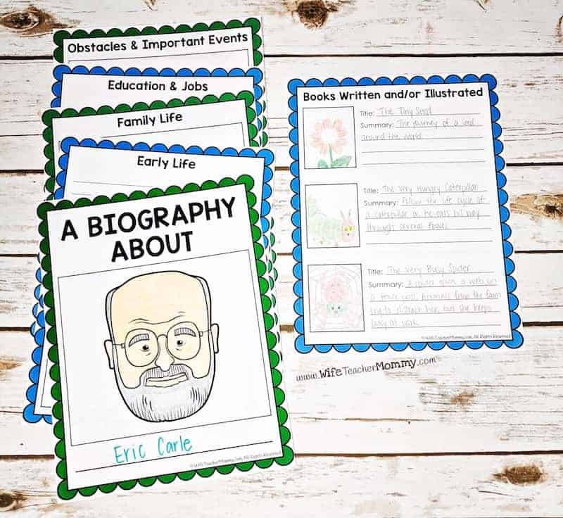 This author study unit is perfect for writing author biography reports! It is a great social studies unit for 1st, 2nd, 3rd, 4th, 5th, 6th grades and upper elementary. Your kids will love this author study activity and how it helps them find credible sources to research about their author. It is a great research template for students to use for an author study project.
