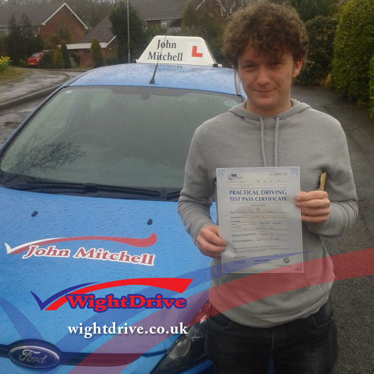 connor-smith-driving-test-pass-2014-with-john-mitchell-isle-of-wight-driving-instructor