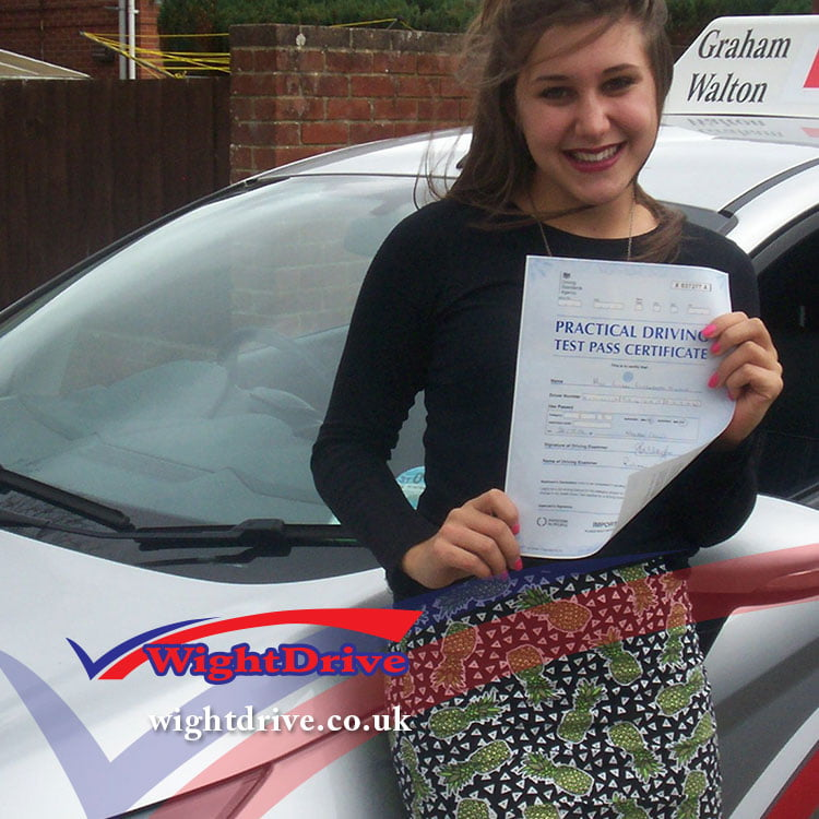 ellen-ceulic--driving-test-pass-2014-with-john-mitchell-isle-of-wight-driving-instructor