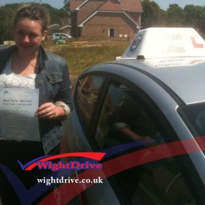 kennedy-mccarthy-driving-test-pass-2014-with-graham-walton-isle-of-wight-driving-instructor