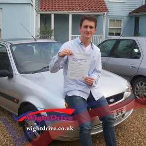Hugo-Crawford-driving-test-pass-2014-with-Graham-Walton-isle-of-wight-driving-instructor