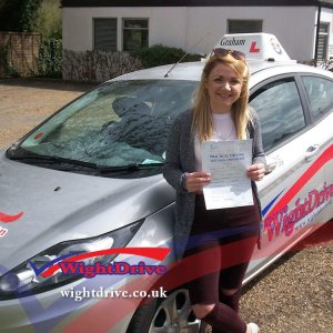 Lauren-Cooper-driving-test-pass-2015-with-Graham-Walton-isle-of-wight-driving-instructor