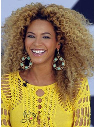Chic Beyonce Knowles Wig Full Lace Medium Curly Blonde