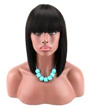 Egyptian Style Wig with Bangs