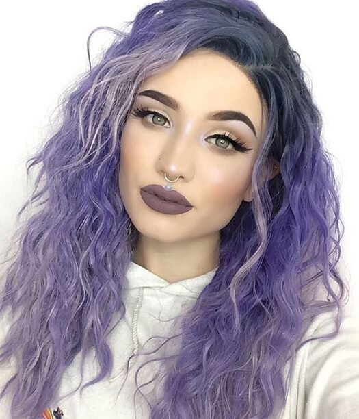 Lavender Dawn Purple Wig