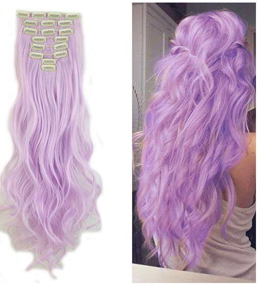 Sexybaby Light Purple Synthetic Hairpiece