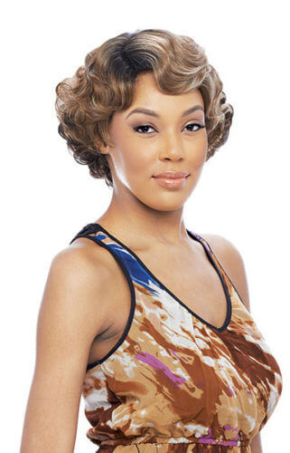 Vanessa Half Finger Wave Mommy Wig Style