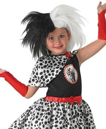 Cruella De Vil Kids Wig