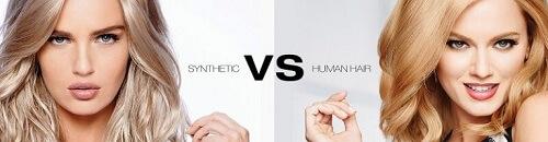 Human Hair-Synthetic Wig