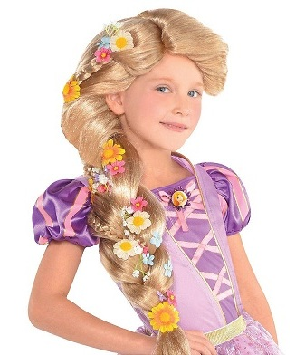 Rapunzel with Flowers Kids Wig