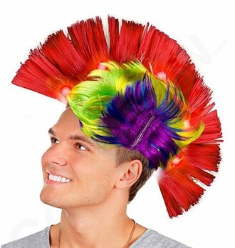 The Mohawk Cockscomb Hair Wig