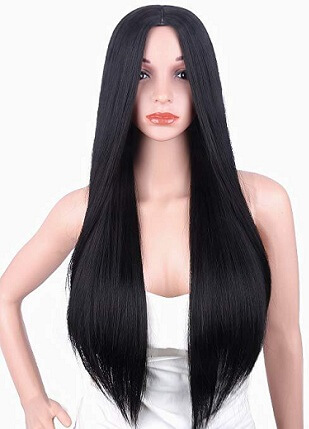 Silky Straight Yaki Wig Style