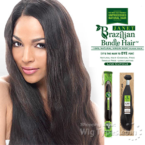 janet collection brazilian bundle hair natural weave 18 20 wigtypes