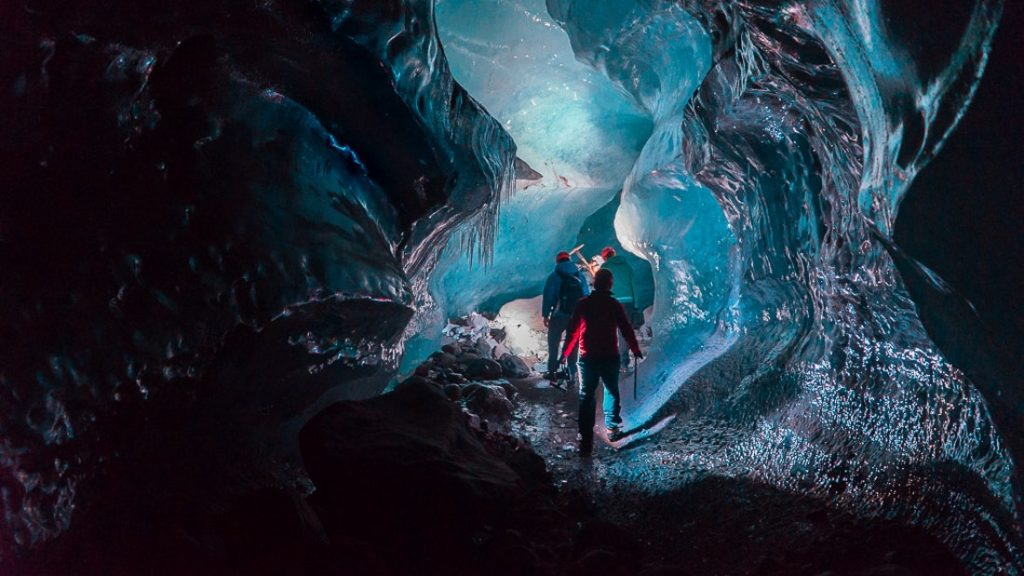 Crytsal Ice Cave in Iceland
