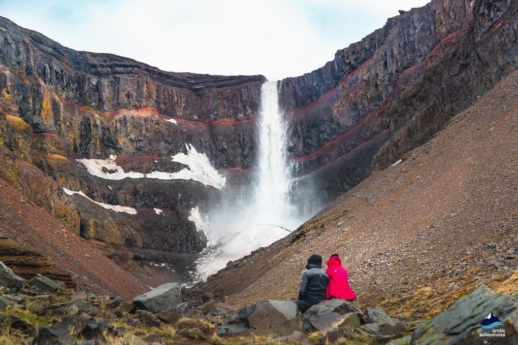 Hengifoss waterfall in the Eastfjords of Iceland