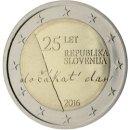 Slowenien 2016 2 Euro Unabhängigkeit