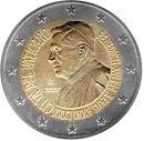Vatikan 2 Euro Geburtstag Papst