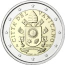 Vatikan 2 Euro 2017 Papst Wappen