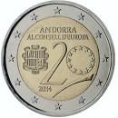 Andorra 2014 2 Euro Münze 20 Jahre Beitritt zum Europarat