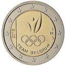 2 Euro Belgien 2016 Münze Olympische Spiele Rio