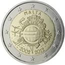 2 Euro Bargeld Euroeinführung Malta-2012