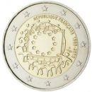 Europaflagge Frankreich 2015 Gemeinschaftsserie 2 Euro