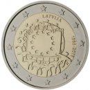 Europaflagge Lettland 2015 Gemeinschaftsserie 2 Euro