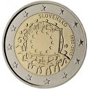 Europaflagge Slowakei 2015 Gemeinschaftsserie 2 Euro