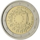 Europaflagge Slowenien 2015 Gemeinschaftsserie 2 Euro