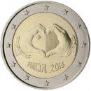 Malta 2016 2 Euro Münze Liebe
