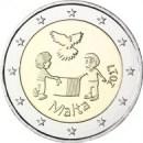 Malta 2017 2 Euro Frieden Kinder mit Solidarität