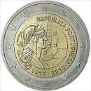 2 Euro Portugal 2010 Münze 100. Jahrestag der Republik