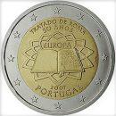 Römische Verträge Portugal 2 Euro Münze