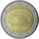 Römische Verträge Slowenien 2 Euro Münze