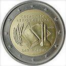 San Marino 2009 2 Euro Münze Kreativität und Innovation