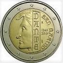 San Marino 2015 2 Euro Münze Dante Aligheri 750 Geburtstag