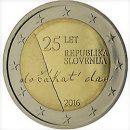 2 Euro Slowenien 2016 Münze 25 Jahre Unabhängigkeit